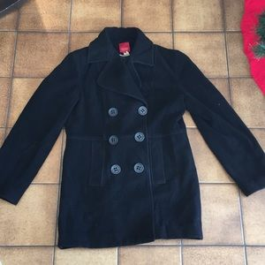 Black pea coat Size Medium